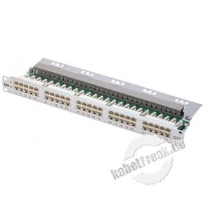 MetzConnect ISDN-Patchfeld, Cat.3, 25 Port, 19', silber