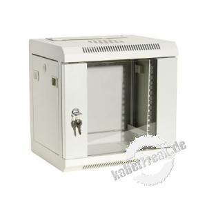 Dexlan 10' Wandgehäuse, 9 HE, 280 x 350 mm, RAL9010 weiss günstiges Wandgehäuse für private oder kleinere betriebliche Anwendungen