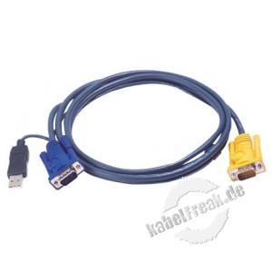 Oktopuskabel USB, 1,8 m Zum Anschluss eines PCs an Arbeitskonsolen und KVM-Switche