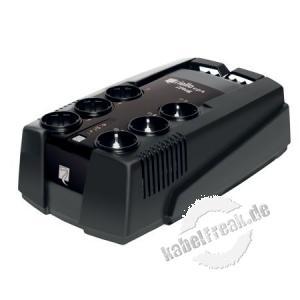 Riello IPG 600 iPlug Desktop USV, 600 VA / 360 Watt Stromversorgung mit Line-Interactive-Technologie für kleine Büros und private Anwendungen