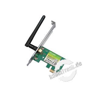 TP-Link Wireless Netzwerkkarte TP-WN781ND, 150 Mbit/s (2,4 GHz), 1T1R, PCI Express Zum Anschluss eines PCs an ein Wireless LAN