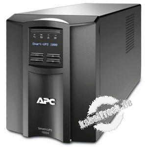 APC USV Smart UPS SMT1000IC, 1000 VA / 700 Watt Moderne Line-Interaktive USV für Server und Netzwerksysteme
