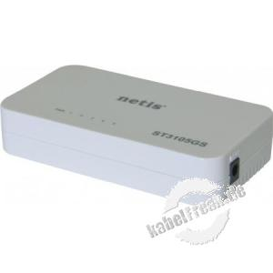 Netis Gigabit Switch ST3105GS, 5 Port, Desktop Energiesparender Switch zum Anschluss von bis zu 5 PCs an ein Gigabit Netzwerk