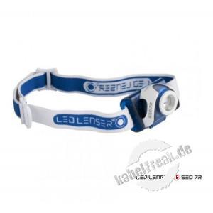 LED Lenser Stirnlampe SEO 7R, blau, in Blisterverpackung Wieder aufladbar, stylisch und robust - ca. 220 Lumen