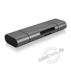 ICY BOX IB-CR200-C Externer Kartenleser mit Multi-USB Anschluss Externer Kartenleser mit USB Type-C (TM)