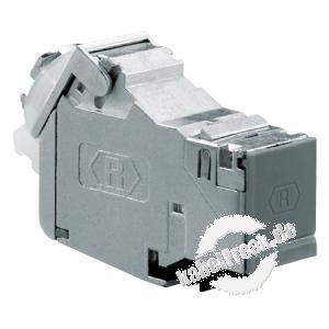 Rutenbeck UM-Cat.6A iso Anschlussbuchse, Cat.6A Keystone-Modul zum Einbau in Modulträger, Anschlussdose oder REGMontageadapter, mit fester Kabelzuführung
