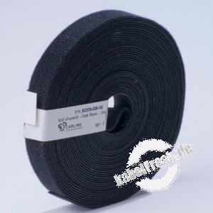 Patchsee Klettband Eco-Scratch, Breite 19 mm, Länge 10,0 m, schwarz Preisgünstiges Klettband auf der Rolle zum schonenden Befestigen von Kabeln