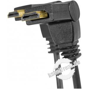 High Speed HDMI Kabel, abwinkelbare Stecker, vergoldet, HDMI St. A / HDMI St. A, 3,0 m Hochwertiges Anschlusskabel mit zwei abwinkelbaren Steckern (ideal bei Platzproblemen)