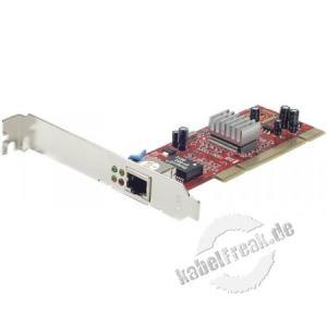 Dexlan Netzwerkkarte 1 Gigabit/s, PCI, Standard und Low Profile Zum Anschluss eines PCs an ein Gigabit Ethernet Netzwerk