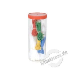 Kabelbinder Sortiment, 850 Stück, farbig sortiert  zum Bündeln und Befestigen von Kabeln