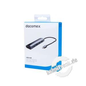 Dacomex USB 3.0 Hub, 3 Port + 1 Port USB Type-C (TM), in Retailverpackung USB Hub mit Type-C (TM) Anschluss
