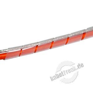 Spiral-Kabelschlauch, 9-65 mm, naturfarben, 10 m Zum Bündeln der Kabel bei PC, TV, HiFi-Anlage usw