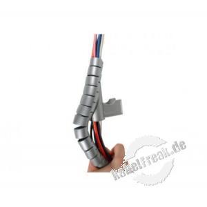 Spiral-Kabelschlauch, 20 mm, silber, 2 m Zum Bündeln von Kabeln im Büro und Zuhause