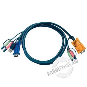 Oktopuskabel USB mit Audio, 1,8 m Anschlusskabel für KVM-Switch 217CS1754 und 217CS1758 zum Anschluss an PCs mit USB Anschluss