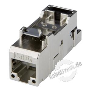 Telegärtner AMJ-S Modul Cat.6A (ISO / IEC), VE: 2 Stück Keystone-Modul zum Einbau in Modulträger oder Datendosen