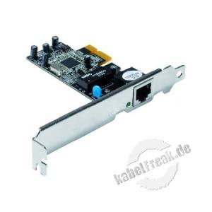 Netzwerkkarte 100 Mbit/s, PCI Express Zum Anschluss eines PCs an ein Fast Ethernet Netzwerk
