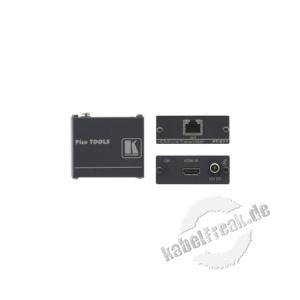 Kramer PT-571, HDMI über Twisted-Pair Sender über eine CAT-Leitung, Reichweite bis zu 100m Dieser Sender wandelt das HDMI-Signal in ein Twisted-Pair Signal
