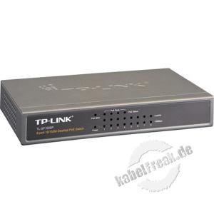 TP-Link Fast Ethernet Switch TL-SF1008P, 8 Port, Desktop, PoE Switch zum Anschluss von bis zu 8 PCs an ein Fast Ethernet Netzwerk
