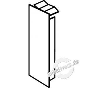 Hager Endplatte für Leitungsführungskanal tehalit.LF 40 x 40 mm, reinweiß RAL 9010, M58039010
