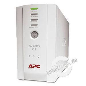 APC USV Back UPS CS, 500 VA / 300 Watt Stromversorgung mit Offline-Technologie für professionelle Anwendungen