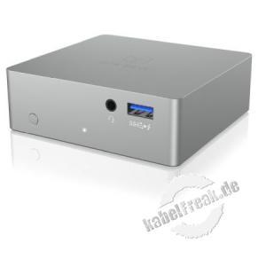 ICY BOX  IB-DK2301C, USB Type-C (TM) DockingStation mit Power Delivery, 4 x USB 3.0, anthrazit/schwarz 4K & Multiport-Dockingstation für Notebook und PCs