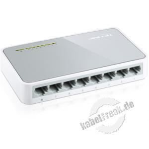 TP-Link Fast Ethernet Switch, 8 Port, Desktop Switch zum Anschluss von bis zu 8 PCs an ein Fast Ethernet Netzwerk