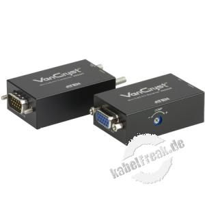 ATEN Mini Cat 5 Audio / Video Extender VE022 Ermöglicht die Übertragung von VGA- und Audio-Signalen bis zu 150 m über die vorhandene Cat.5e Verkabelung