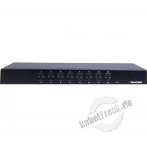 Dexlan KVM Switch 16 Port  DX-KVU5-16 Bis zu 16 Server können lokal (optional per Fernzugriff) verwaltet werden