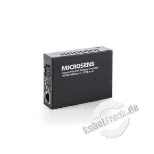 Microsens MS400249 Gigabit SFP Ethernet Medienkonverter mit Bridging-Funktion Gigabit Ethernet Desktop Medienkonverter mit Bridging-Funktion