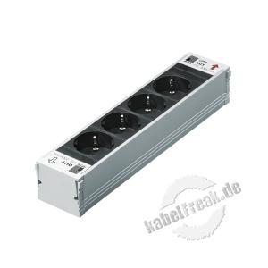 Rittal DK 7856.100 PSM 4-fach Schutzkontakt Einsteckmodul ohne Sicherung Stromschiene für 19' Schränke zum Einbau von Schutzkontakteinsteckmodulen