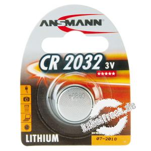 Ansmann Knopfzelle, CR 2032 (3V), VE: 1