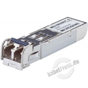 Microsens MS100210DX, SFP-Transceiver Gigabit Ethernet mit erweitertem Einsatztemperaturbereich -40°..+85°C Gigabit Ethernet SFP-Transceiver mit Digital Diagnostic-Funktion für Monomode-Anwendungen