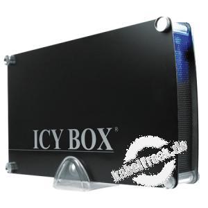 ICY BOX SATA-Aluminium-Gehäuse IB-351StU3-B, 3,5', USB 3.0, schwarz Lüfterloses Gehäuse mit USB 3.0 Anschluss zum Einbau von 3,5' SATA-Festplatten