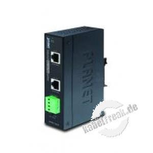 Planet Industrial IEEE 802.3at Gigabit High Power over Ethernet Splitter IPOE-162S, für Hutschienenmontage Kompakter Switch für Industrieanwendungen