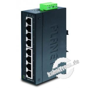 Planet Industrial Fast Ethernet Switch ISW-801T, 8 Port, für Hutschienenmontage Kompakter Switch für Industrieanwendungen