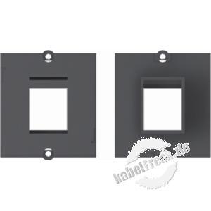 Bachmann Facility System Modul schwarz mit Aufnahme für 1 Datenbuchse mit Keystone-Befestigung Einbaurahmen passend zu allen Modulträgern (DESK etc.), für die Aufnahme von Standard-Keystone-Modulen geeignet