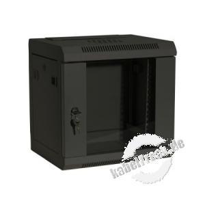 Dexlan 10' Wandgehäuse, 6 HE, 350 x 280 mm, RAL 9005 schwarz  günstiges Wandgehäuse für private oder kleinere betriebliche Anwendungen
