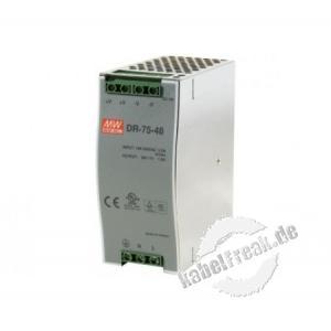 Industrienetzteil für die Hutschiene, 48 Volt, 1,6 A, 75 W Stromversorgung für die Industrieumgebung