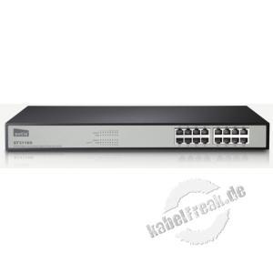 Netis Gigabit Switch ST3116G, 16 Port, 19' Energiesparender Switch zum Anschluss von bis zu 16 PCs an ein Gigabit Netzwerk