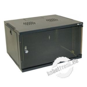 Dexlan 19' Wandgehäuse Eco, 4 HE, 540 x 450 mm, RAL9005 schwarz Wandgehäuse für den Einbau von Netzwerkkomponenten bis 35 kg