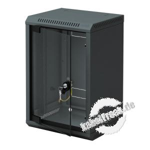 Triton 10' Wandgehäuse RBA-10, 1-teilig, 4 HE, 310 x 260 mm, schwarz RAL 9005 Gehäuse zur Realisierung von kleineren Anwendungen wie Hausnetze, Home Office oder Netzwerke kleiner Firmen