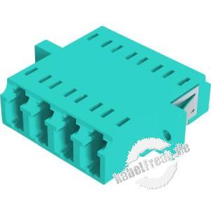LWL Kupplung LC/LC, 4-fach, Multimode OM4, Kunststoff-Gehäuse mit Keramik-Ferrule, erikaviolett
