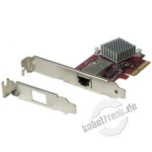 Dexlan Netzwerkkarte für Sever, 10 Gigabit/s, PCI Express, Standard und Low Profile Zum Anschluss eines Servers an ein Gigabit Ethernet Netzwerk