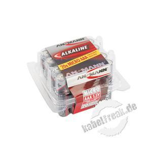 Ansmann Red-Line Batterie 20-er Box, Micro (AAA), VE: 20 Stück Zellen mit hervorragender Qualität im ansprechenden Design für den tagtäglichen Einsatz