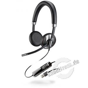Poly Headset Blackwire 725-M Schnurgebundenes USB-Headset mit Active Noise Cancelling