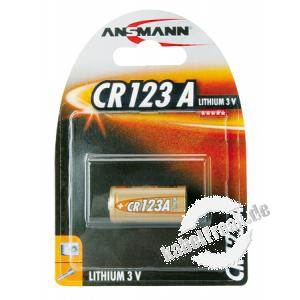 Ansmann Lithium-Fotobatterie, CR123A (3V), VE: 1