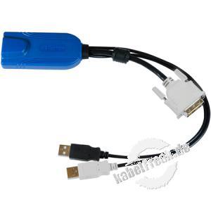 Raritan Computer Interface Modul D2CIM-DVUSB-DVI für Virtual Media, Dual USB, DVI Wird benötigt für virtual media (BIOS Zugriff) und ' absolute mouse synchronisatiom' und Smart Card Einsatz
