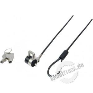 Dacomex K-Lock Laptop-Diebstahlsicherung mit Kabeleinführung Das Diebstahlschutz-Kabelschloss sichert Ihren Computer und seine externe Stromversorgung und sogar die Kabel sicherem Metallring