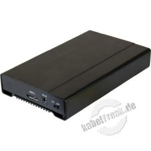 Dexlan SATA Aluminium-Gehäuse, 2,5', USB 3.0, schwarz Kompatibel mit Festplatten bis 12,5 mm Höhe