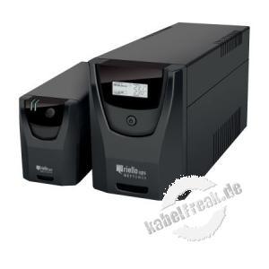 Riello NPW 600 Net Power USV-Anlage, 600 VA / 360 Watt, mit 4 IEC kaltgeräte-Steckdosen, LED-Anzeige und USB-Schnittstelle Stromversorgung mit Line-Interactive-Technologie, Automatischem Spannungsstabilisator, Automatischem Batterietest etc